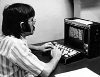 Don using a CCI terminal in the 1970's